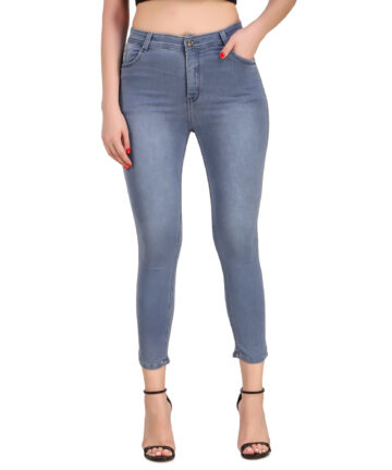 STYLONES Women's Knitted Denim Stretchable High Rise Jeans