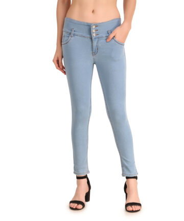 STYLONES Women's Stretchable Slim Fit Ankle Length High Waist Denim Jeans for Girls/Ladies
